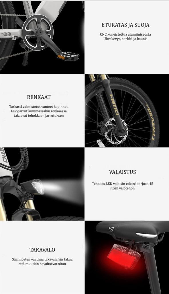 Himo-sähköpyörä-ominaisuudet