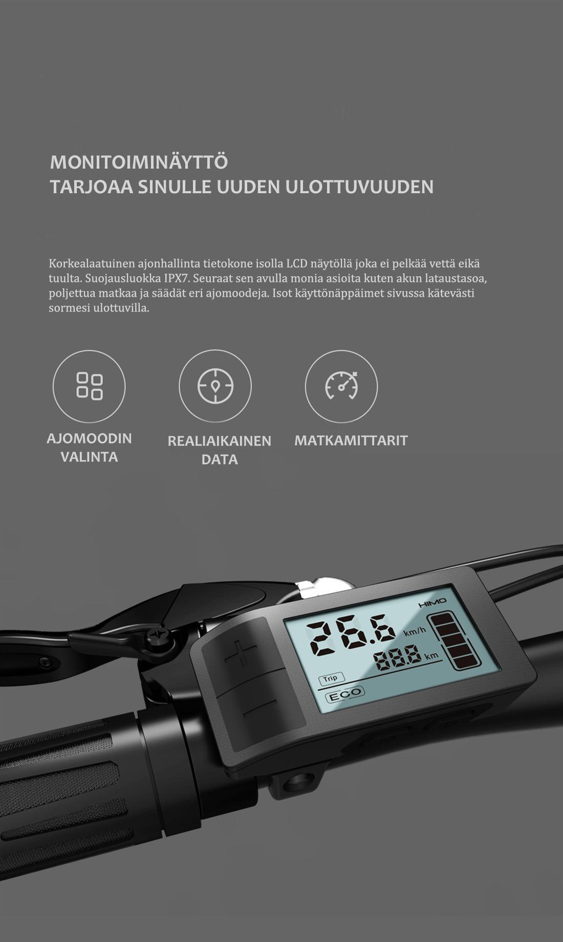 Himo-sähköpyörän-ajotietokone