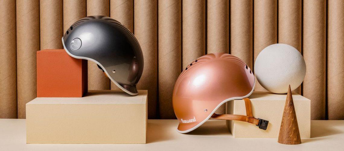 Thousand Helmets pyöräilykypärä rose gold & titanium