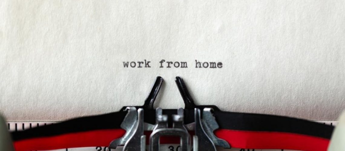 work-from-home-a-typewritten-message